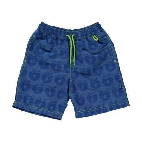 Shorts, swim pants, blue with apples, Smafolk