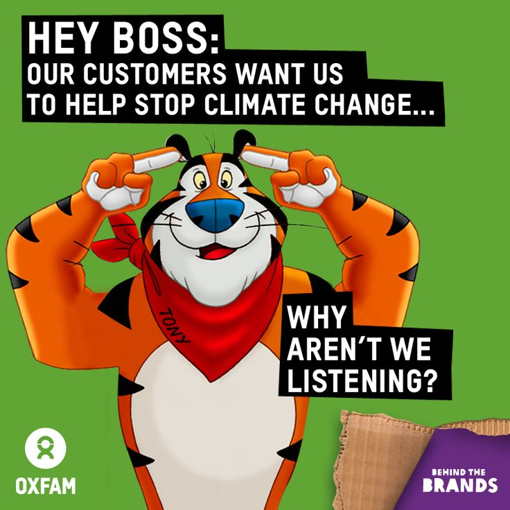 One food giant, General Mills, committed to cut its emissions. But Kellogg is staying silent while farmers continue to go hungry.  If each of us can take 3 minutes to call Kellogg now, we could make thousands of calls and persuade them to cut their emissions too! Find all you need to do it here: www.behindthebrands.org/takeaction