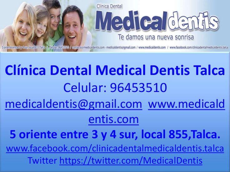 Promoción frenillos metálicos $342.000 antes $380.000 y Pagando en efectivo $330.000 ($330.000 no valido con tarjeta de débito o Red Compra), controles mensuales $32.000 y Pagando en efectivo $30.000 ($30.000 no valido con tarjeta de débito o Red Compra) - 96453510 - medicaldentis@gmail.com - www.medicaldentis.com , 5 oriente entre 3 y 4 sur, local 855, Talca.