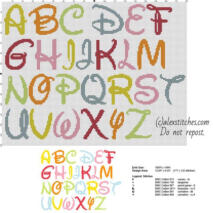 Cross Stitch Letter Pattern Newsinvitation