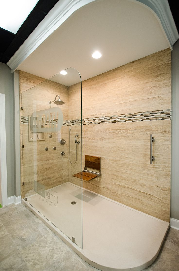 78 best images about re bath remodels on pinterest for Huge walk in shower