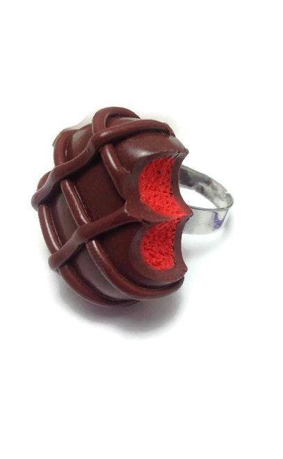 Chocolate Ring Realistic Chocolate Mini Food by JosCreationsGR