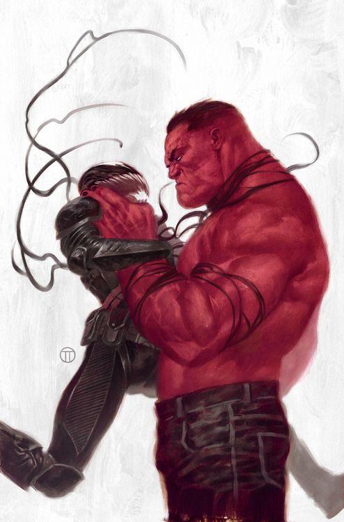 Red Hulk vs Venom by Julian Totino Tedesco