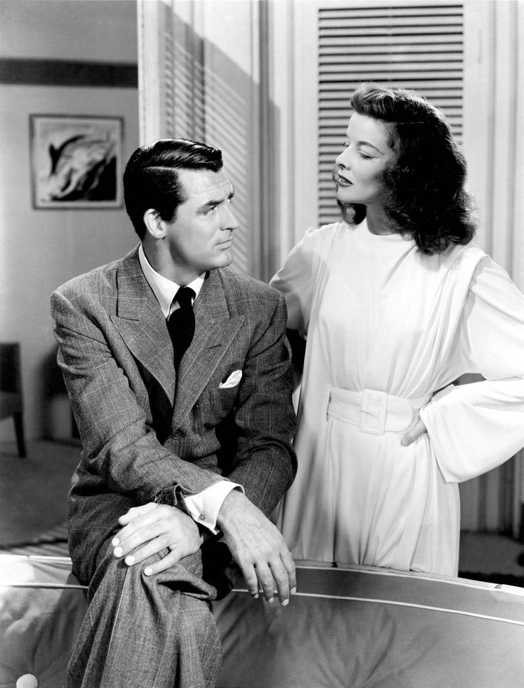 "Cary Grant, Katharine Hepburn in ""The Philadelphia Story"" (1940). Director: George Cukor."
