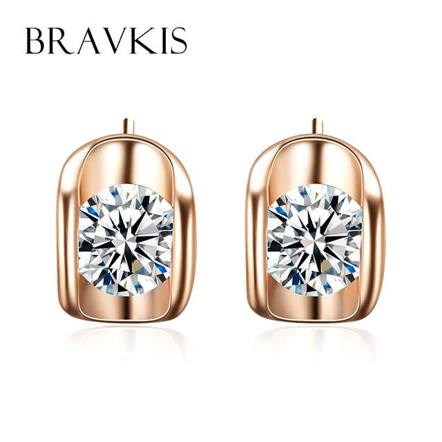 BRAVKIS старинные прокалывание ушей серьги синтетический алмаз луна шпильки украшения для женщин brincos букле d'oreille femme BJE0218