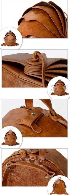 Mochila de cuero Crossbody bolsa-pequeño escarabajo por KiliDesign