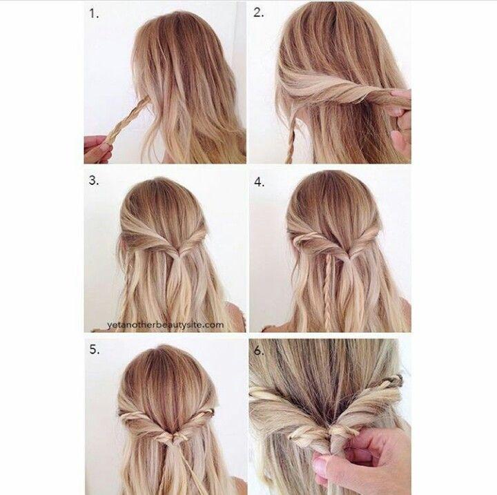 Simple Elegant Hairstyle Medium Hair Styles Braided Hairstyles Tutorials Hair Styles