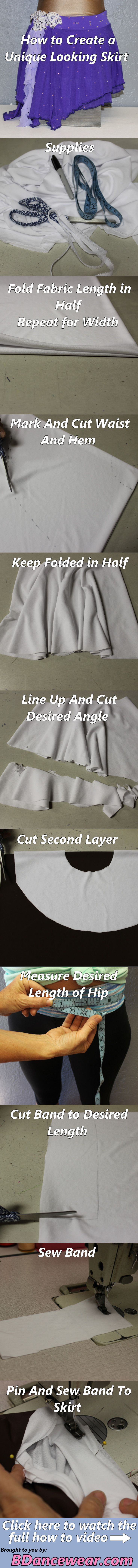 How To Create A Unique Looking Skirt DIY