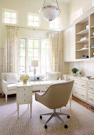HOME OFFICE Tracy Hardenburg Designs #neutral #cream