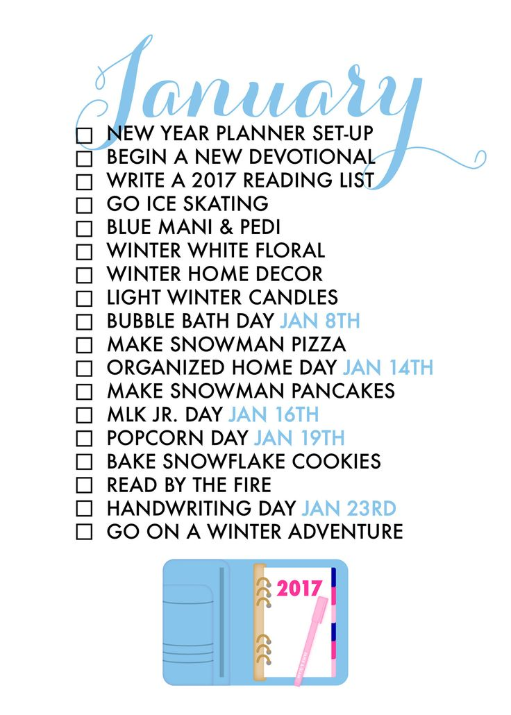 18 Reasons to Celebrate January! The monthly seasonal living list helps us savor each season of the year and find joy in every day! Please note, this is a digit