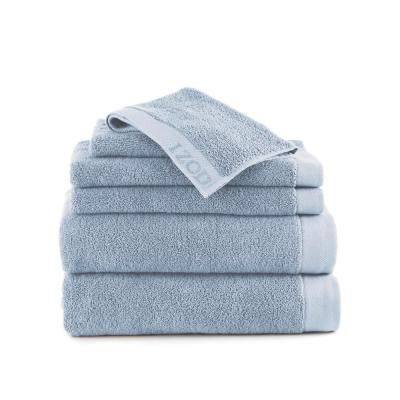 Izod Classic 6 Piece Grey Solid Bath Towel Set 079465038767