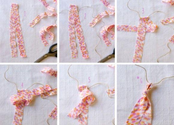Ghirlanda di cotone, cotton garland DIY