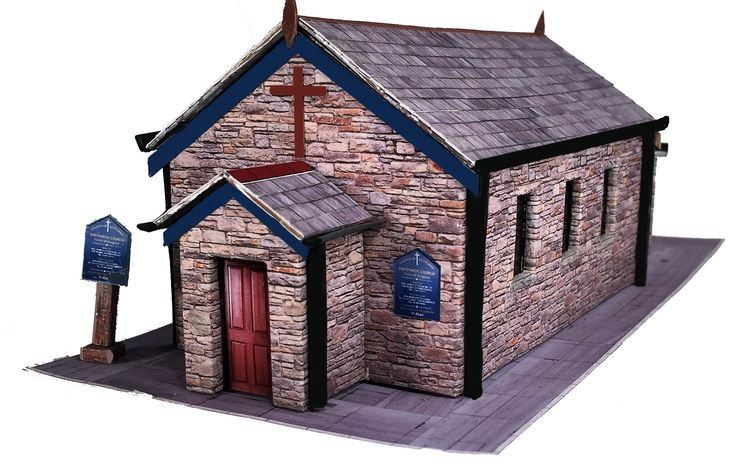 Here are a few snapshots of the newly completed 4mm OO Gauge small rural churches in brick, stone & corrugated iron.   Just the instructions to complete  before release date of Nov 25th.   The kits will retail for £3 = C$5.02.