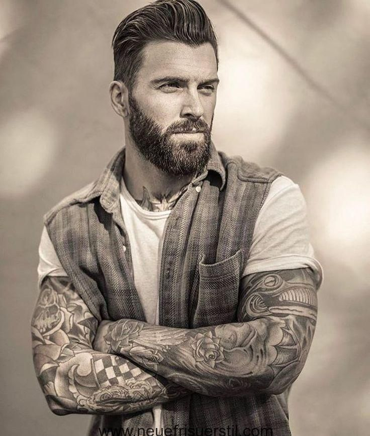 Gorgeous Men's Hairstyles With Beards 2018 – # Beards #Mens Hairstyles #homme #with # Gorgeous