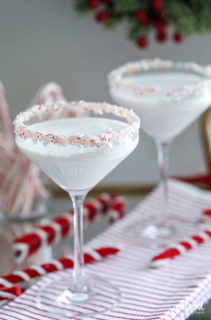 This White Chocolate Peppermint Martini makes delicious holiday