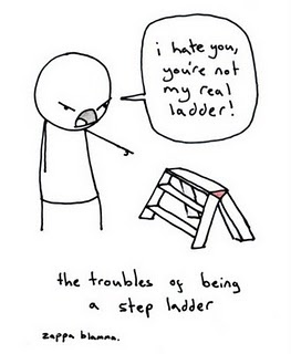 troubles of being a step ladder: Poor Step, Stepladd, Troubled, Giggl, Funny Stuff, Hilarious, Funnystuff, Step Ladder, Real Ladder
