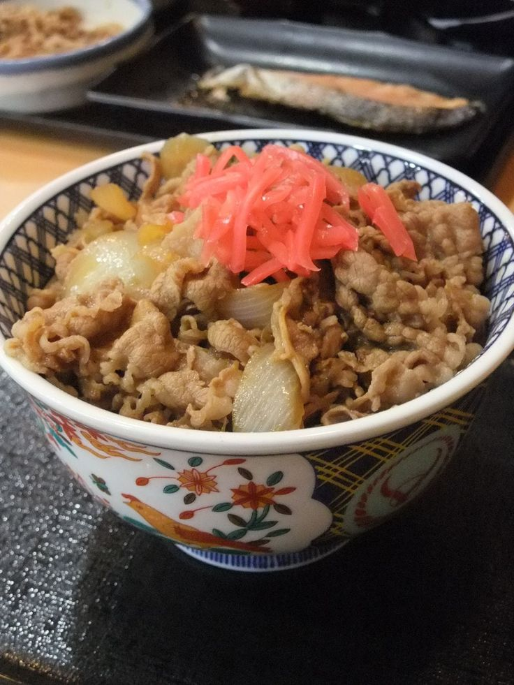 Beef Rice Bowl, Popular Japanese Soul Food | Yoshinoya Gyudon 吉野家の牛丼 http://pinterest.com/pin/257268197434889459/