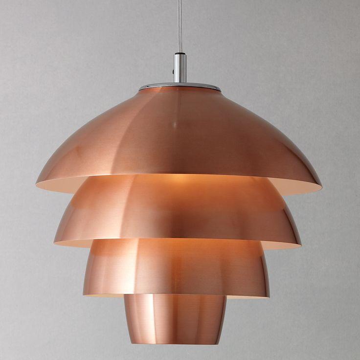 Buy John Lewis Oslo Layered Ceiling Pendant, Copper | John Lewis
