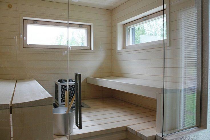vaalea sauna sisustus