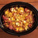 3 Freezer crock pot meals - Cheddar Vegetable Sausage Casserole, Spicy Buffalo
