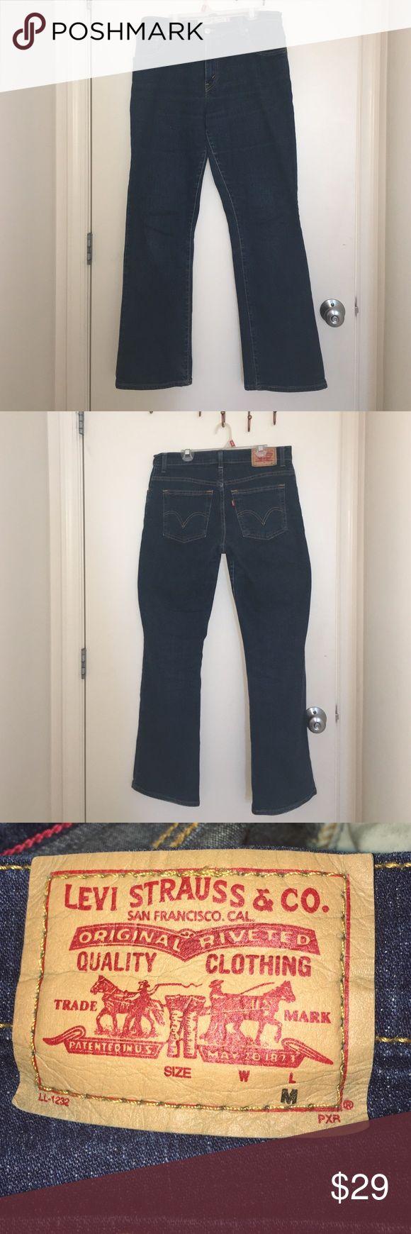 Dark Blue relaxed boot cut LEVIS jeans #LEVIS #jeans #style #fashion #Levis #Levisjeans #cheap #blue Levi's Jeans Boot Cut