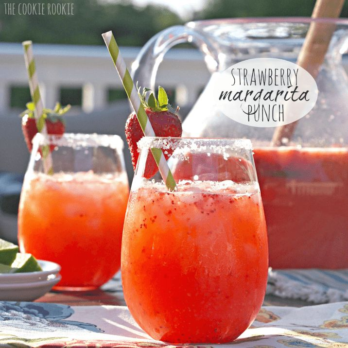 Strawberry Margarita Punch is so delicious. Easy to make for a crowd and loved by all! Could make in different flavors. Yum1