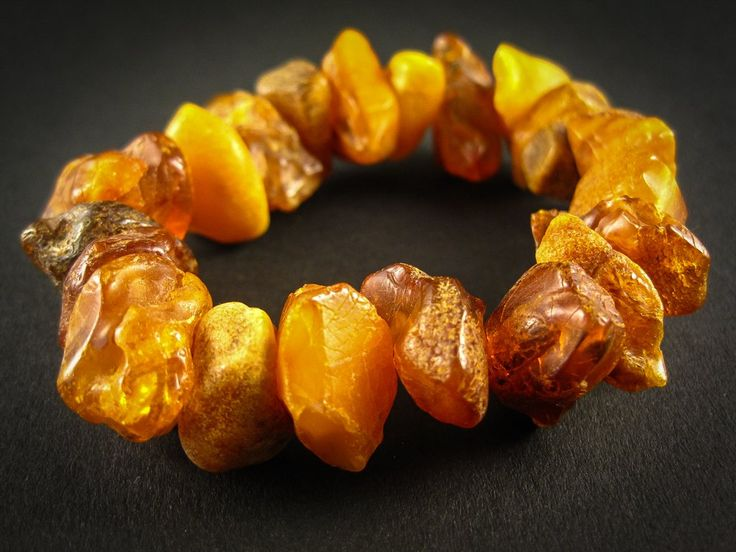 Genuine Handmade Amber Bracelet, Cognac, Honey, Medium Size, Raw Natural Gemstone, Unpolished Beads, Healing properties, Nursing Mums