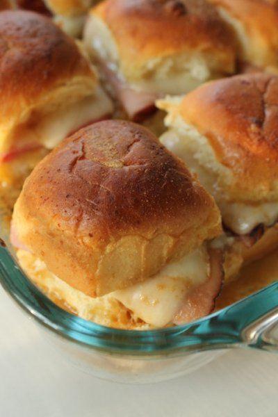 Life on Food: Hawaiian Roll Ham and Cheese Sliders #secretrecipeclub