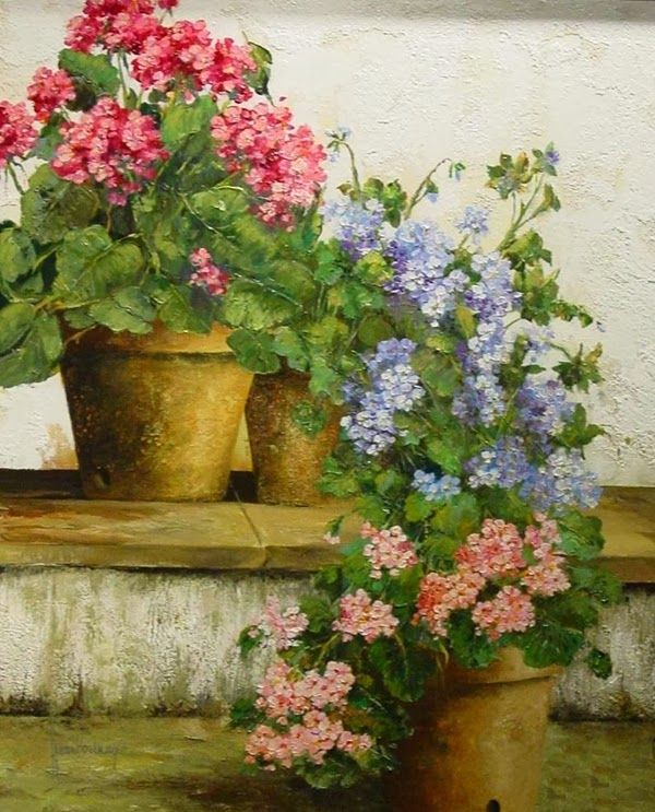 Juan fortuny geranios pinterest clay pots clay and for Aquarelliste chinois