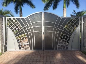 Wrought Iron Aluminum Unique Custom Modern Contemparary Driveway Gates