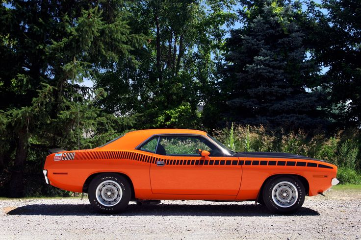 1970 Plymouth Cuda AAR. Looks like my 2011 Challenger RT with Cuda graphics.