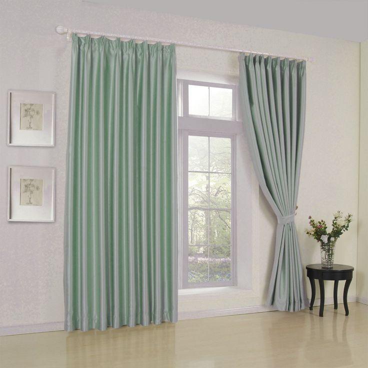 Modern Solid Sage, Light Green Curtain   #curtains #decor #homedecor #homeinterior #green