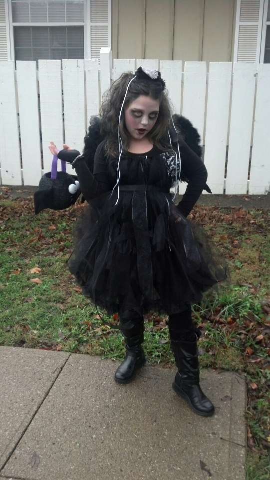 Halloween costume i made for my girl.. Dark Angel, she loved it!