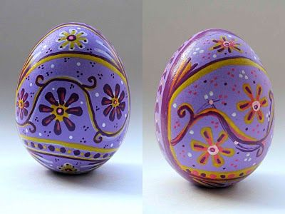 Purple Egg-- decorated with Sharpie pens