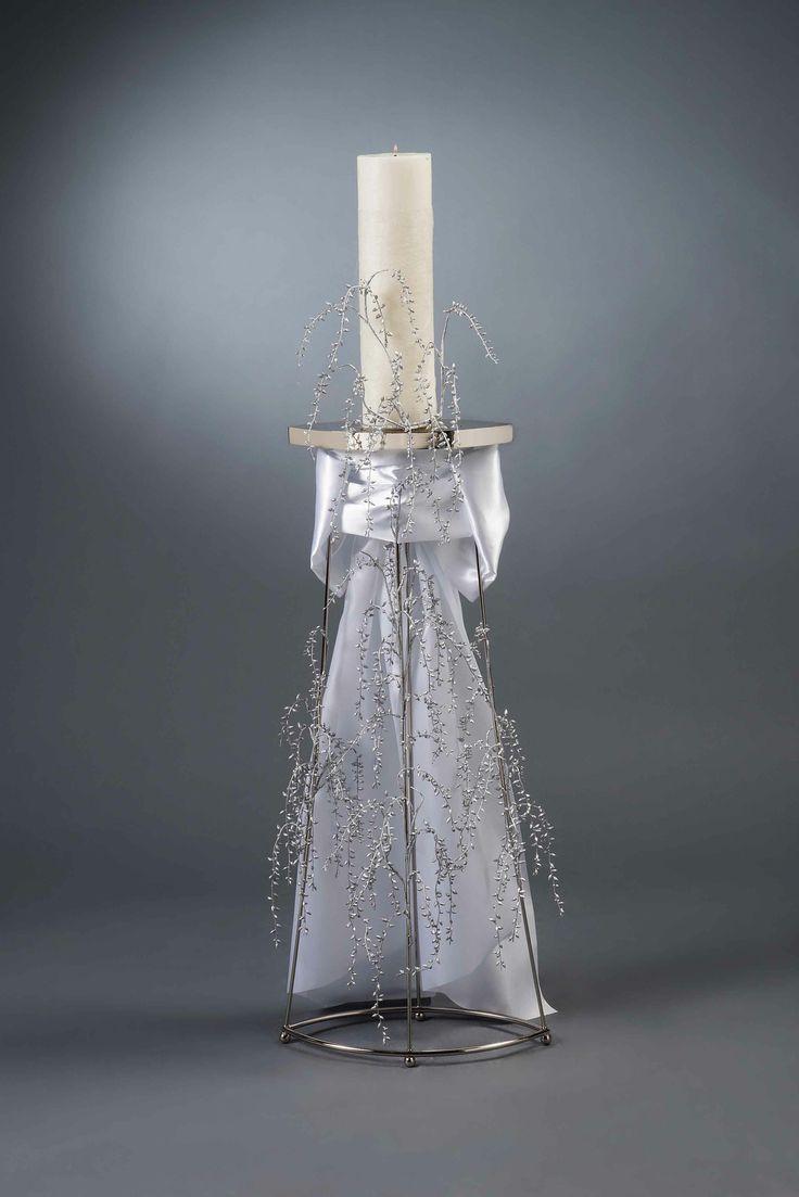 Λαμπάδες γάμου LUNA O - Είδη γάμου & βάπτισης, μπομπονιέρες γάμου | tornaris-rina.gr