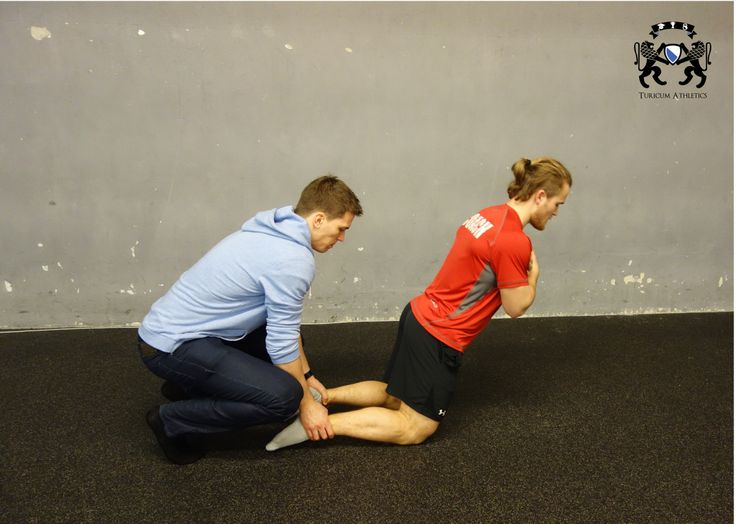 Eccentric hamstring exercise - stretch and strength! You may need another guy to spot front of you or do it e.g. against the wall so you won't fall down on the floor.