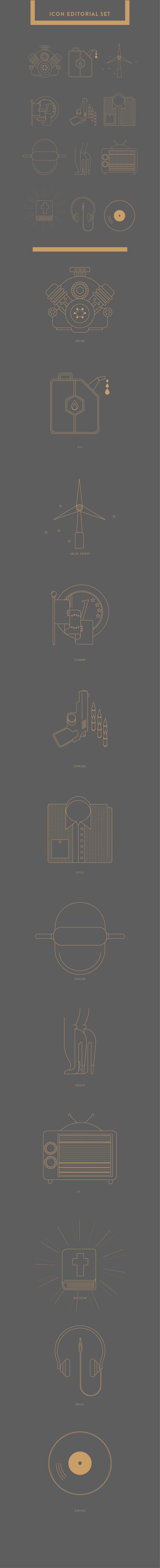 ICON EDITORIAL SET #2 by matteo franco, via Behance
