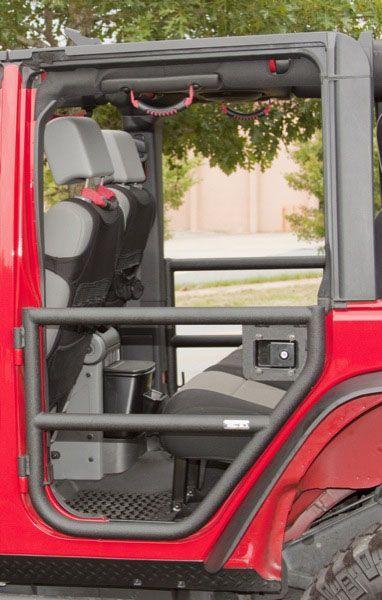 Rugged Ridge Rear Tube Door Set in Textured Black for 07-13 Jeep® Wrangler Unlimited JK 4 Door