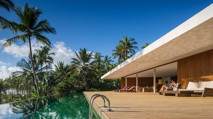This striking modern house, entitled Txai House, is the perfect place to gaze at the Atlantic Ocean while swaying in the hammocks.