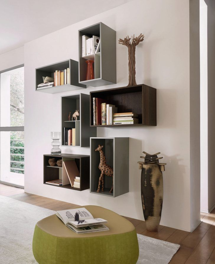 Innenarchitektur : K\u00fchles Wohnzimmer Regal Dekorieren | Ideen Für  Wohnzimmer Gestalten | Bookcase, Shelves, Home Decor