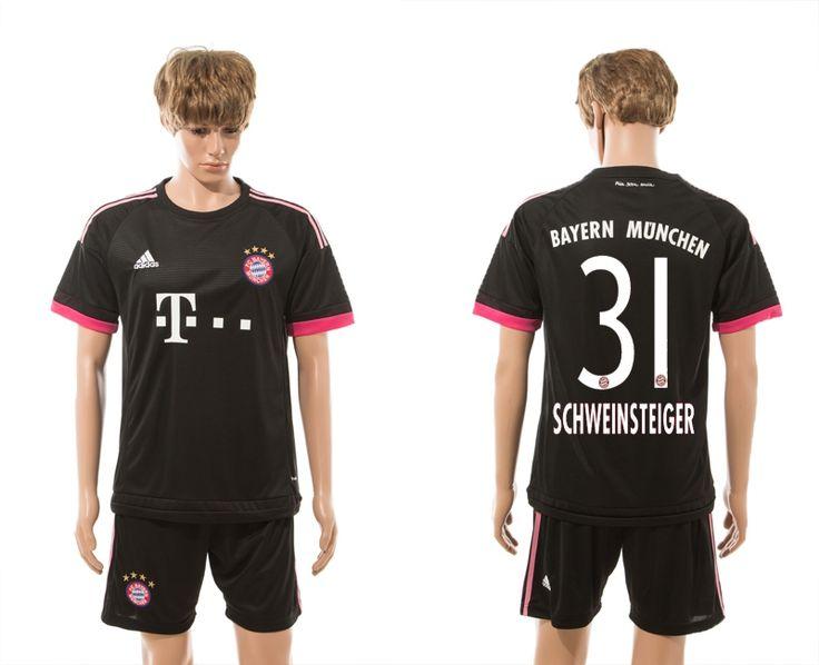 Bayern Munchen #31 Schweinsteiger Black Soccer Club Jersey