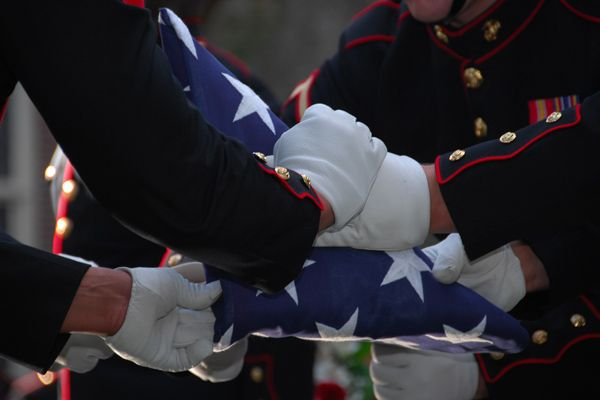 Military Funeral Honors are available for an eligible veteran, free of charge, if requested by the family.