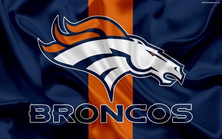 Descargar fondos de pantalla Los Denver Broncos, logotipo, emblema, la Liga Nacional de Fútbol americano, NFL, Denver, estados UNIDOS, el fútbol Americano, en el Norte de la División de