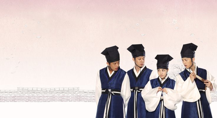 Sungkyunkwan Scandal is about a girl who disguises herself as a boy while attending Sungkyunkwan, the Joseon Dynasty's highest educational institute, where no women were allowed. source: http://en.wikipedia.org/wiki/Sungkyunkwan_Scandal