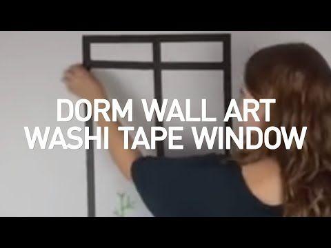 Dorm Wall Art: Washi Tape Windows - The Finishing Touch