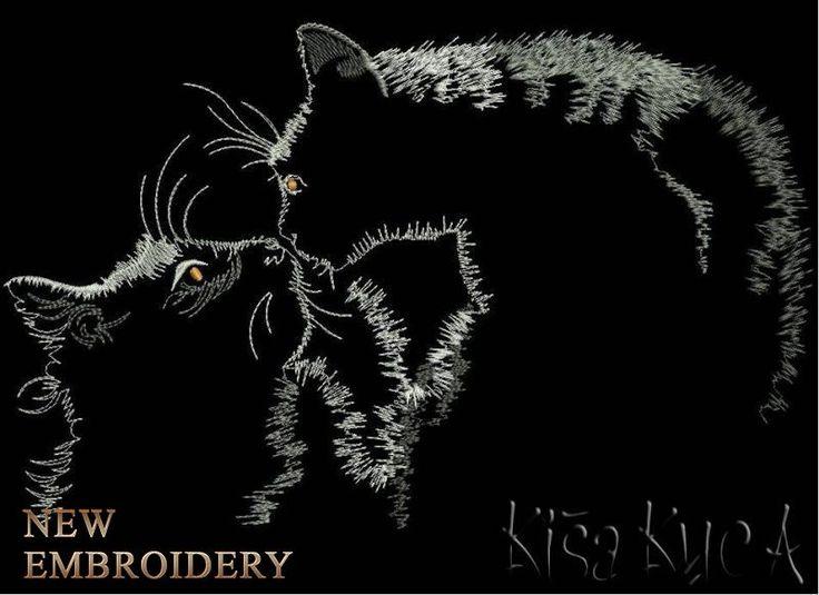 кошки бесплатный дизайн машинной вышивки