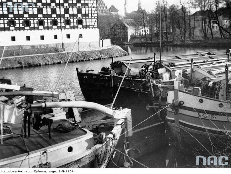 Brda River, Bydgoszcz, Poland, 1938