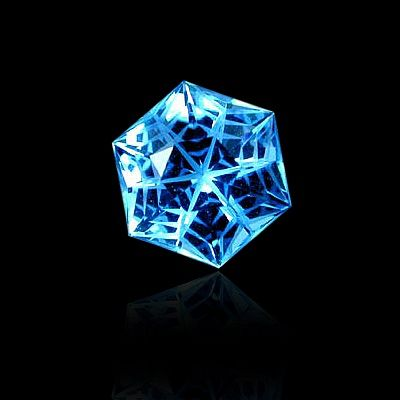 "hexagonal ""satin snowflake""? cut swiss blue topaz by gems by design, inc."