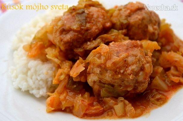 Mäsové guľky v letnej kapuste (fotorecept) - Recept