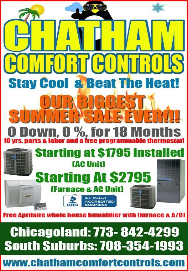 Chatham Comfort Controls Heating & Air Conditioning an A+
